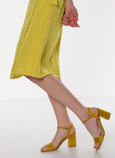 F By Fabrika F By Fabrika Rayne Çok Renkli Kadın Kalın Topuklu Ayakkabı Sarı